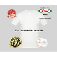 Kaos Rider R223B Putih Pria Kaos Oblong T-Shirt Tebal Anti Melar Ori