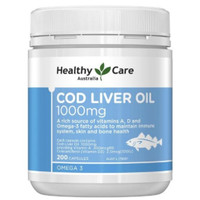 healthy care cod liver oil 1000mg 200capsules