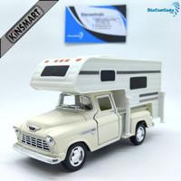 Kinsmart Chevy Stepside Pick-up 1955 Truck Camper Skala - Krem