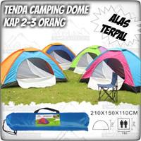 Tenda camping / Tenda Dome Kapasitas 2-3 Orang Single Layer