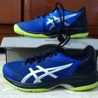 Sepatu Tenis asics Gel-Court Speed Blue/Neon