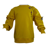 Sweater Anak Perempuan - Motif Bunga Kuning