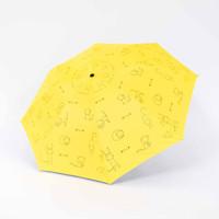 Payung lipat 3 kucing jepang full print / antiUV hitam / GRC - 327