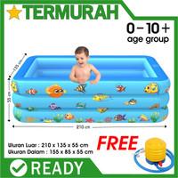 kolam renang anak jumbo kotak biru bestway besar intex 210cm keluarga
