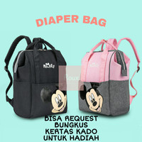Tas Susu Asi Tas Bayi Baby Ransel Diaper Bag Mommy Bag Disney Original