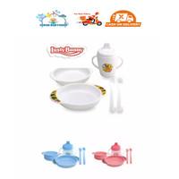 Lusty Bunny Feeding Set Piring/Set Tempat Makan Bayi (Kemasan Plastik)