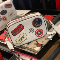 Coach Marvel Jes Crossbody In Signature Canvas With Patches - ORI 100%