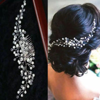 AR063 pearl wedding hair mutiara murah / aksesoris rambut mutiara