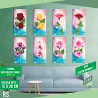 Dekorasi Dinding Bunga Mawar Pajangan Wall Decoration Ruang Tamu - RS - Random