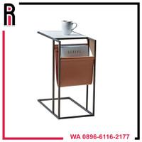 Meja coffee table /meja kopi /meja rak buku meja ruang tamu industrial