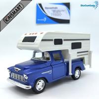Kinsmart Chevy Stepside Pick-up 1955 Truck Camper Skala - Biru