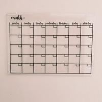 Acrylic monthly planner akrilik planner free perekat