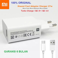 Charger 27W Turbo Charge Mi 10t Pro 5G / Lite Original Xiaomi + Cable