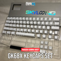 Paradox Gaming GHOST DIY GK68X ABS Double Shot Keycaps White