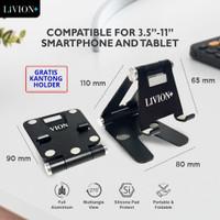Universal Phone Tablet iPad iPhone HP Dock Stand Holder Meja Aluminium