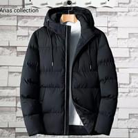 jacket winter pria keren terbaru Hitam size, L - Navy, M