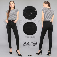 Celana Jeans JUMBO Highwaist CK 971 601 / 605 / 606 - Hitam, 27