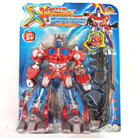 MAINAN ROBOT TRANSFORMER OPTIMUS PRIME SUPER WARRIOR - MAINAN ANAK