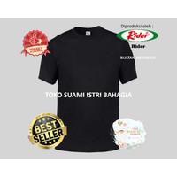 Kaos Rider R223B Hitam Pria Kaos Oblong T-Shirt Tebal Anti Melar Ori