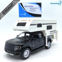 Kinsmart Ford F-150 SVT Raptor SuperCrew Truck Camper - Hitam