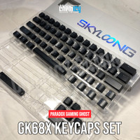 Paradox Gaming GHOST DIY GK68X ABS Double Shot Keycaps Black