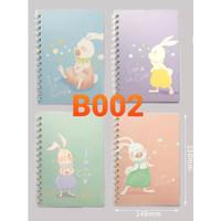 Buku Tulis Model Ring Cover Lucu B002