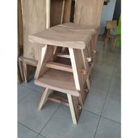 Kursi kayu bar cafe kayu trembesi murah terbaru