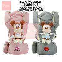 Hipseat Gendongan Bayi Hip Seat Baby Carrier Disney Original - GREY