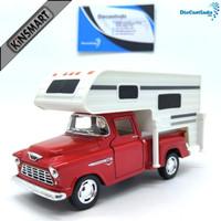 Kinsmart Chevy Stepside Pick-up 1955 Truck Camper - Merah