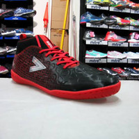 SEPATU FUTSAL MITRE ULTIMATCH IN RED BLACK hi