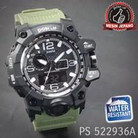 Positif 522936-A Jam Tangan Pria Sport Double Time 100% anti air - Hitam-hijauarmy