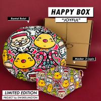 Paket Kado HAPPY BOX JOYFUL Hadiah Natal Christmas Doodle Hampers Xmas