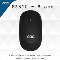 AOC MS310 Silent Wireless Mouse Black ORIGINAL
