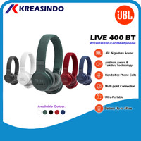 JBL Live 400BT / 400 BT Wireless On-Ear Headphones Garansi Resmi - Biru