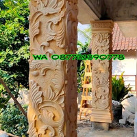 ukiran batu alam untuk pilar