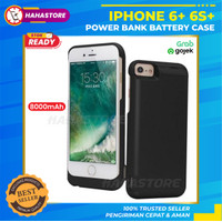 iPhone 6+ 6S+ Plus Power Bank Case Soft Cover Casing Battery Charging