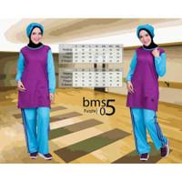 Baju Olahraga Muslim Believe BMS 05 SMLXL/Training Kaos Katun Muslimah