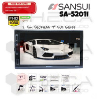 SANSUI SA-5201i Mirrorlink Head Unit SA5201i Double Din Tape Mobil