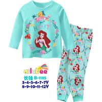 Piyama Baju Tidur Anak Perempuan Panjang Ailubee Karakter Ariel Tosca