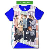 Kaos BTS Series Baju BTS Keren dan Trendy #RD-047 - Biru, XS