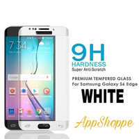 Tempered Glass Samsung Galaxy S6 Edge Full Screen Protector WHITE