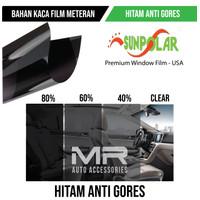 Kaca Film Premium Hitam / Riben Sunpolar USA Mobil Gedung Meteran - 80 Persen