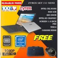 LAPTOP SEKOLAH ZYREX NOTEBOOK SKY 232 MINI N3350 4GB 256GB WIN10 GREY