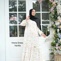 baju gamis muslim homedress Viona Monia Hijab Kids termurah - Dewasa Plus, butter