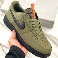 Sepatu Nike Air Force 1 Low Medium Olive Black Starfish