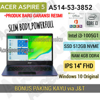 LAPTOP ACER ASPIRE 5 A514-53-CORE i3 1005G1-4GB-SSD 512GB-FHD 14