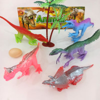 5PCS DINOSAURS ZOO ANIMAL SET - MAINAN ANAK DINOSAURUS - DINO WORLD