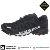 Salomon Speedcross 5 GTX Sepatu Running Pria – Black White - 7