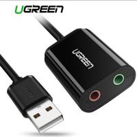 Ugreen Usb 2.0 External Audio Sound Card Adapter For Earphone Mic Aux