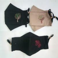 Masker Kain 3D Bordir Floral Pohon 3ply Set isi 3 .Custom pilih warna.